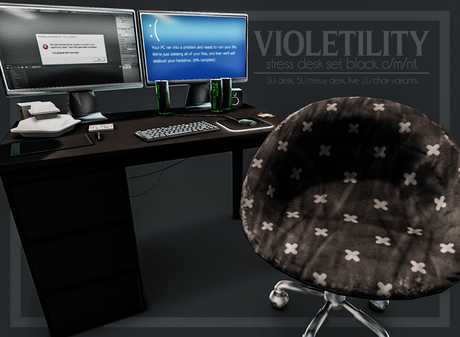 Violetility Stress Desk Set Black