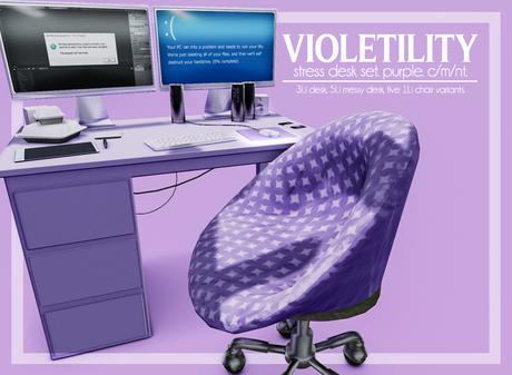 Violetility Stress Desk Set Purple