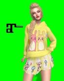 XK Maitreya Cute Bunny Set Yellow