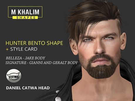 Second Life Marketplace Hunter Bento Male Shape For Catwa Head