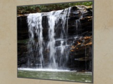 "ANIMATED GIF Wall Art Picture ""Real Waterfall over Rock Stream"""