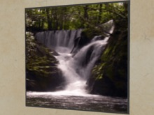 """ANIMATED GIF Wall Art Picture """"Real Waterfalls in Deep Woods"""" Copy/Mod Nature Moving Home Decor House Furnishings PROMO"""