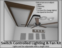 .PSG. Switch Controlled Lighting & Fan Kit - CONFIGURABLE