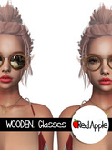 [RED APPLE] - WOODEN. Glasses