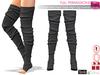 Full Perm MESH Mid Heel Feet Thigh High Leg Warmer Socks For Maitreya, Slink, Ocacin, Tonic