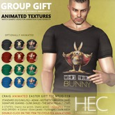 HEC - CRAIG Animated Easter Show-Off Tee GIFT NTUG-119 (M)
