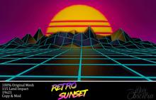 *!R.O!* Retro Sunset Mesh Backdrop