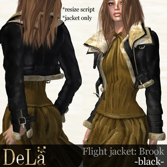 "=DeLa*= Flight Jacket ""Brook"" Black"