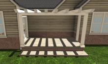 TS Back Pergola Porch for Adams House