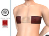 """Leather Top """"Amber"""" flat chest TwoSided for V-tech+Slink Petite+Simple Stuff"""