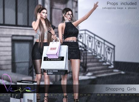 K&S - // Shopping Girls // Bento pose