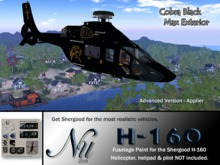 Fuselage Paint SA Airbus H-160 - Cobra Black