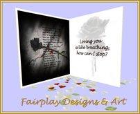 ~FDA~ Goth Loving You Greeting Card~