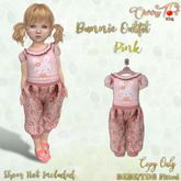 *Cherry Tot* BEBE/TDB FItted Bunnie Outfit Pink
