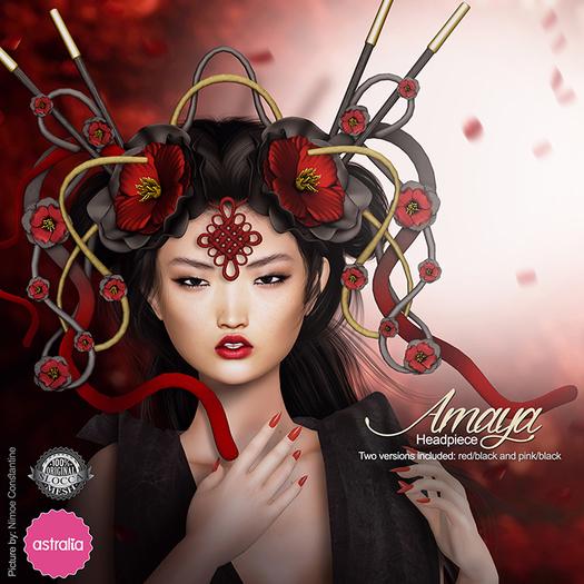 Astralia - Amaya headpiece (red&pink) PROMO!!