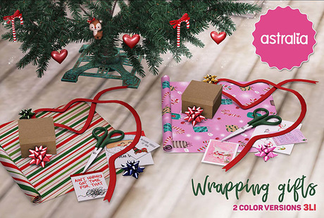 Astralia - Wrapping gifts decor (2 colors)
