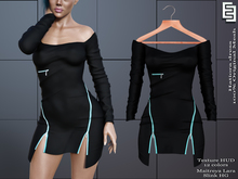 Elven Elder Hatiora dress Black Maitreya Lara, Slink HG