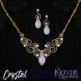 ::: Krystal ::: Crystal - Jewelry Set - Cotton Candy - Gold