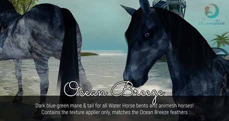 Lunistice: Ocean Breeze - Water Horse Mane & Tail