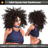A&A Nyota Hair Dark Brown (Special Color). Wild curly womens hairstyle
