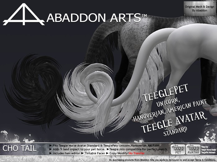 ABADDON ARTS - CHO Tail [Teegle Avatar & Pet HANO-APH-UNI] LUXE