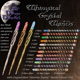 The Half Moon Market - Whimsical Crystal Wand 03 - Earth