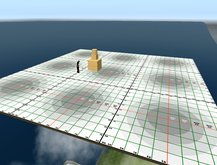 1prim 1024 sqm Building Platform 32x32 Measurement BuildingGrid, Sandbox, Skybox