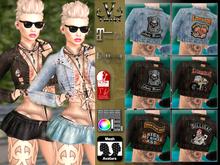 V-Twins- Biker Clothes - Brazen Biker Version **MESH Outfit [Mesh Bodies Compatible] Maitreya Slink Belleza