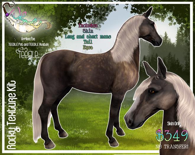 """Rocky"" Texture Kit - Teegle Horse/Teeglepet"