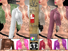 V-Twins Casual Clothes - Individual Items Mesh Jacket - Brazen Color Leather Collection (Slink Belleza & Maitreya)