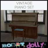 Robot Dolly - Vintage Piano Set