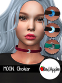 Red.Apple - MOON. Choker / Silver