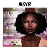 Afro-Headwrap FATPACK {NOIR}