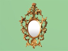 """HOME WALL DECOR Crafted Art """"Carved Frame Small Oval Mirror"""" Interior Design House Furniture Copy/Mod 1 Prim PROMO SALE"""