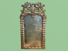 """HOME WALL DECOR Crafted Art """"Antique Carved Mirror Reflections""""  Interior Design House Furniture Copy/Mod 1 Prim PROMO"""