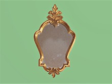 "HOME WALL DECOR Crafted Art ""Unusual Shape Carved Gold Mirror""  Interior Design House Furnishings copy/mod 1 PRIM PROMO"