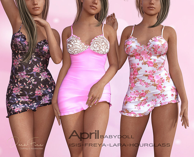 DarkFire April Babydoll- Fatpack