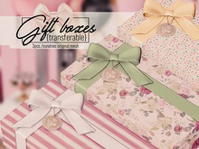 sundries - Gift Boxes {giftable} transferable ♥ Mesh Birthday Gift Box 3 Present Boxes Presents