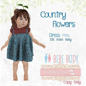 TPT - Country Flowers Dress - TDB fitted & Bebe Fitted