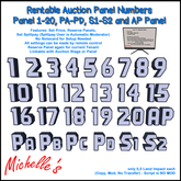 Rentable Auction Panel Numbers with Remote Control (Panel Reservation)