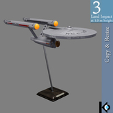 3D / Starship Enterprise NCC-1701 Model / 3 land impact