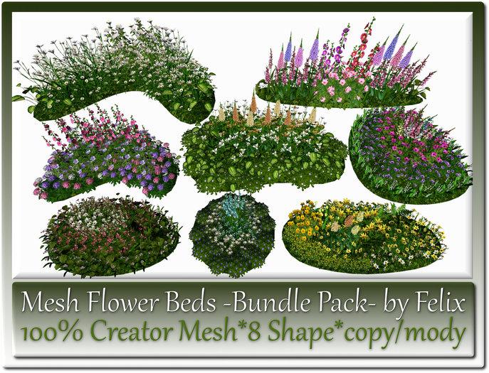 8 Mesh Garden Flower-Beds Bundle Pack by Felix copy-mody