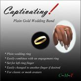 Captivating! Plain Gold Band
