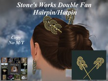 Fans Double Hair Pin Stone's Works CLAUDIA