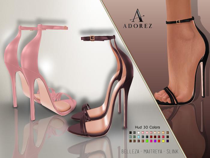 AdoreZ-Jeannine Heels Hud 30 Colors