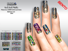 [SuXue Mesh] Bento Nails Metallic,Jewels, Lara, Slink, Hud