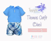 [KNIGHT DESIGNS] THOMAS POLO SHIRT & SHORT (BLUE)  - TD AND BEBE
