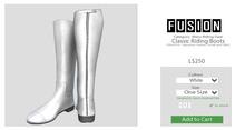 [FUSION] Men's Classic Riding Boots. - White.