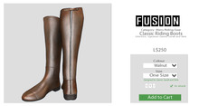 [FUSION] Men's Classic Riding Boots. - Walnut