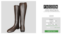 [FUSION] Men's Classic Riding Boots. - Umber